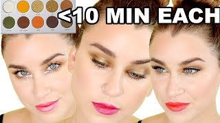 3 LOOKS UNDER 10 MINUTES- JACLYN HILL ARMED AND GORGEOUS PALETTE | Beauty Banter