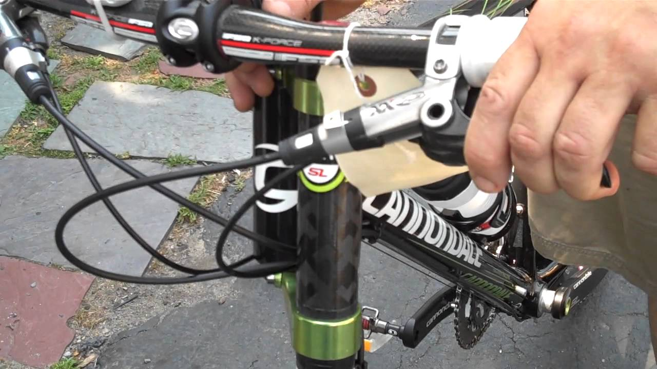 Bike Cable Lock >> Bike Repairs Cannondale Full Carbon FLASH LEFTY Happy JULY ...