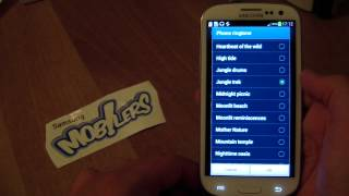 Samsung Galaxy SIII Full Sound Scheme - all ringtones and notifications