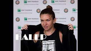 SIMONA HALEP (ROU) 🎾 2018 Roland Garros CHAMP talks Kerber (QF),  Kasatkina and Serena- Sharapova
