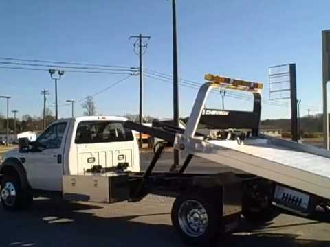 F550 For Sale >> Jacky Jones Ford New 2009 F550 Rollback Wrecker - YouTube