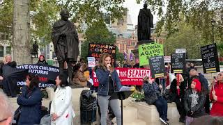 Samantha Baldwin speech at #thecourtsaid protest, Parliament Square, 26th Oct '19