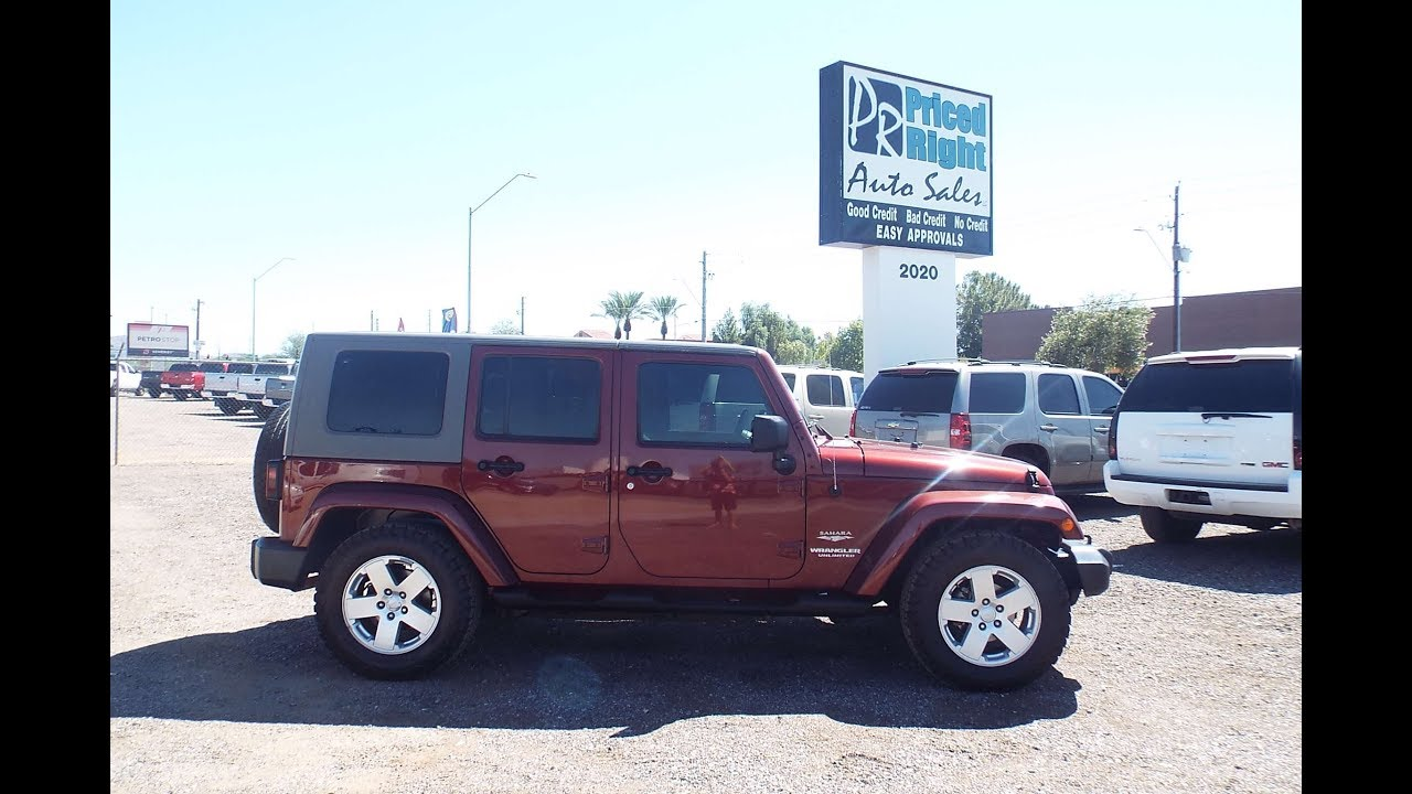 No Credit Auto Sales >> 2007 Jeep Wrangler Unlimited At Priced Right Auto Sales In Phoenix Az Good Credit Bad Credit