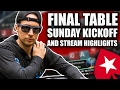 FINAL TABLE SUNDAY KICKOFF $23,000 for 1st and stream highlights from the BOAT!