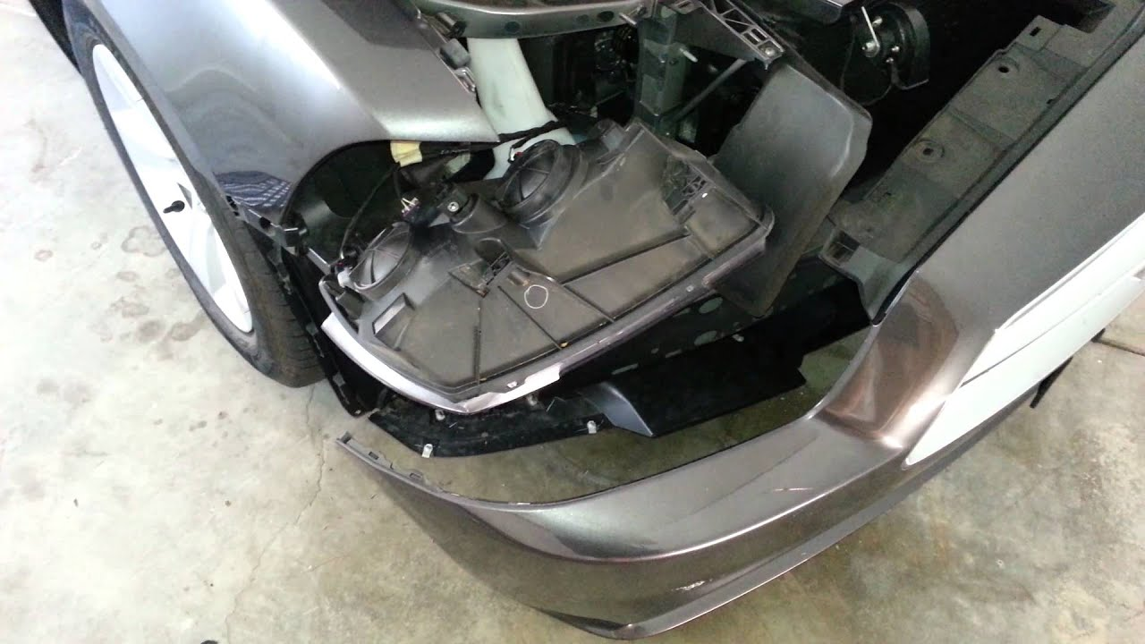 2014 Dodge Charger Front Bumper Fascia Cover Removed To