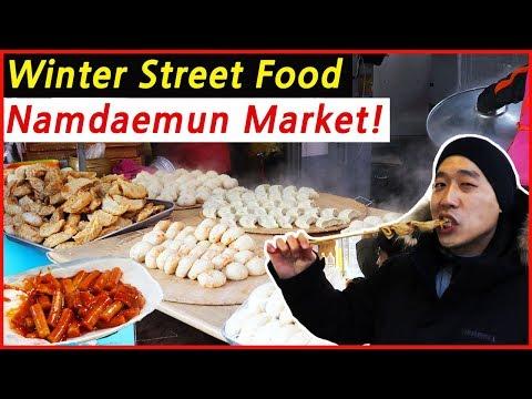 The Best Korean Street Food in Namdaemun Market Seoul South Korea