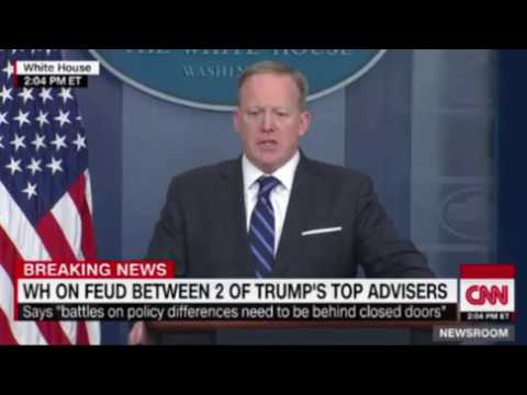 Spicer Says Rumors of Infighting in Trump Cabinet Are 'Overblown ...