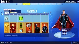 FORTNITE SEASON 4 BATTLE PASS: SUPERHEROES