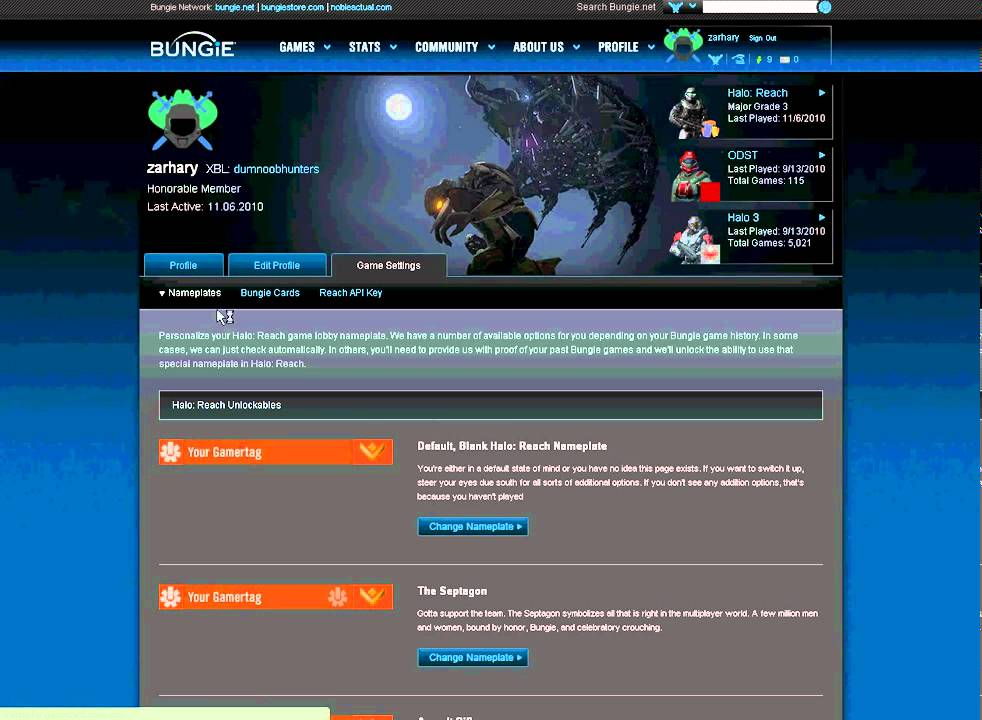 How To Link Your Gamertag In Halo Reach With Bungie Net Youtube