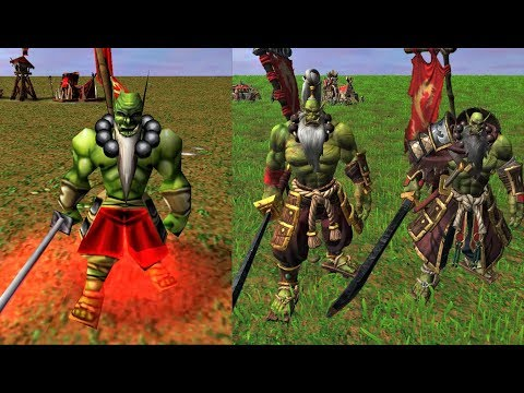 Warcraft III Reforged: Orc Units Comparison (2002 VS 2020)