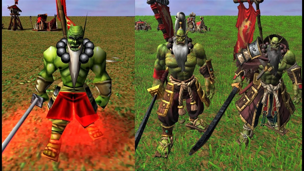 Warcraft Iii Reforged Orc Units Comparison 2002 Vs 2020 Youtube