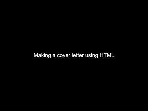 2 - Implement A Cover Letter Using HTML | HTML