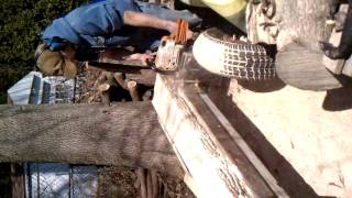 Homemade Chainsaw Mill (prototype)