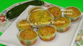 Eggless Savory Zucchini & Cheese Muffins Video Recipe By Bhavna