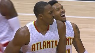 Dwight howard catching lobs! houston rockets vs atlanta hawks