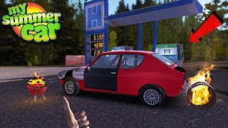 My Summer Car - FIRE AT GAS STATION