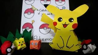 DIY| Gift Bag made by paper - Pokemon Pikachu (Template downloadable) @GN Zimetra