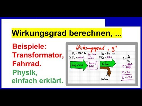 wirkungsgrad berechnen einfach erkl rt mit beispielen trafo fahrrad physik youtube. Black Bedroom Furniture Sets. Home Design Ideas