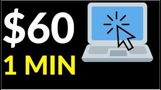 Earn $60 in 1 Min! (Easy Way To Make Money Online)