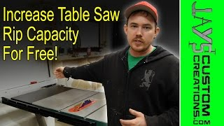 Increasing Table Saw Rip Capacity For Free - 179