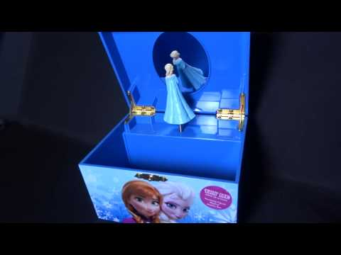 Frozen Elsa Anna Jewelry Music Box plays Let It Go