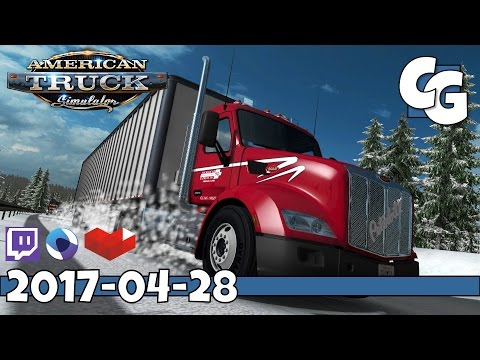 American Truck Simulator - VOD - 2017-04-28 - Dalton Highway 1:1 Scale Alaska Map  - ATS Gameplay