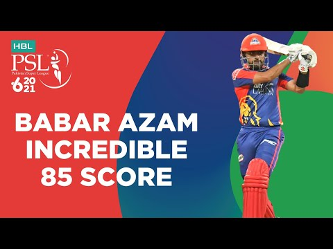 Babar Azam Incredible 85 Score   Multan Sultans vs Karachi Kings   Match 16   HBL PSL 6   MG2T