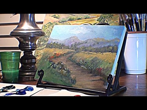 How to Paint Bushes,Distant Trees - Marge Kinney- Part 2 of 3 Landscape