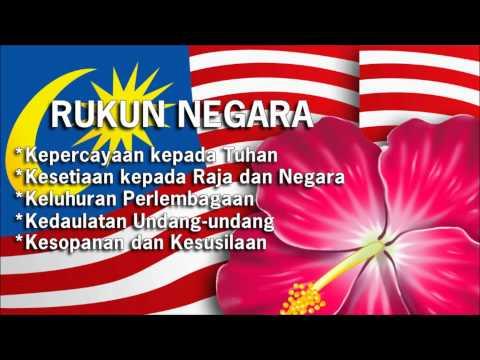 Lagu Rukun Negara [5 Prinsip Rukun Negara]