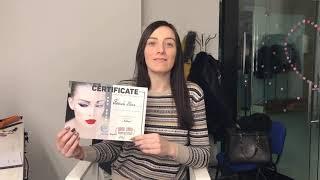 Каждая девочка, прошедшая Обучение по бровям получает именной сертификат