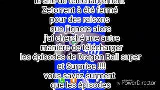 Nouvelle manière de télécharger les épisodes de DRAGON BALL SUPER ET BORUTO NARUTO NEXT GENERATION