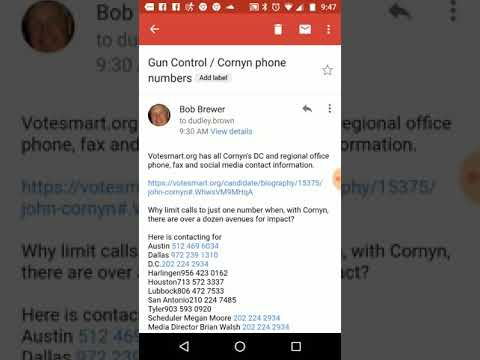 Sen Cornyn all Regional Office contact information votesmart.org Dudley Brown Nationalgunrights.org