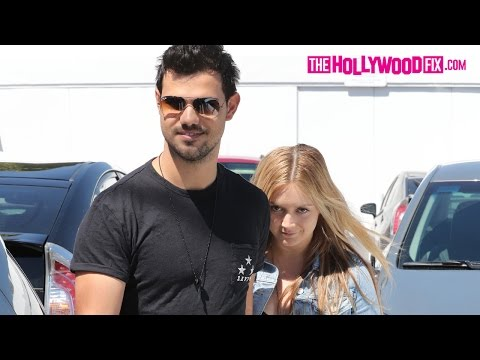 Taylor Lautner & Billie Lourd Enjoy A Romantic Lunch Date Together At Fred Segal 3.23.17