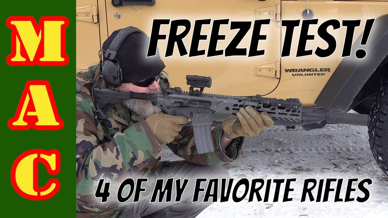 Let's see if we can break them! Freezing testing my favorite rifles!