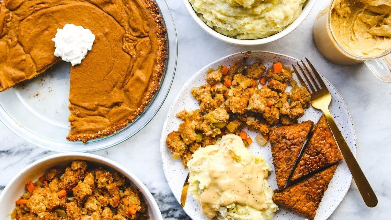 Easy Vegan Thanksgiving Dinner in Under 2 HOURS!