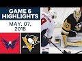 NHL Highlights   Capitals vs. Penguins, Game 6 - May 07, 2018