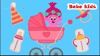 Troll Bebe's Family - Learn Colors Vegetables - Funny Stories & Nursery Rhymes