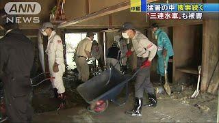 九州豪雨の被災地では17日も炎天下。安否不明者の捜索や復旧作業が続い...