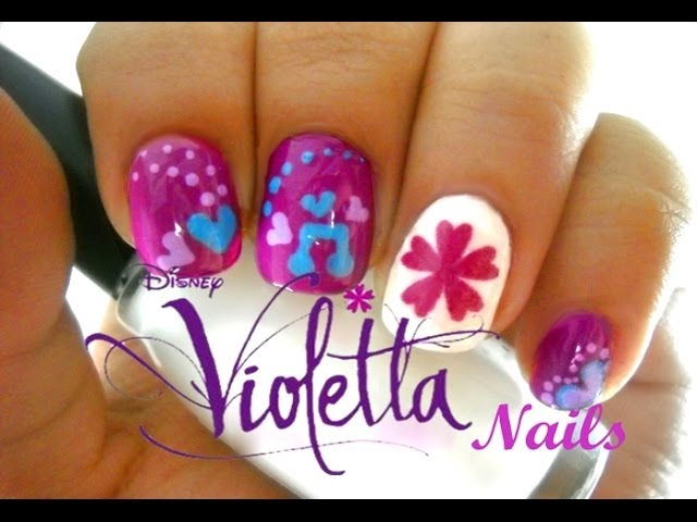 Uñas de Violetta DISNEY  - Easy Disney Violetta Nails Videos De Viajes
