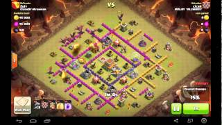 CLASH OF CLANS TH7 VS TH8 DRAGON BALLOONS ATTACK STRATEGY CLAN WAR 3 STAR