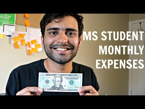 MS Student Monthly Expenses in US  | MS in US
