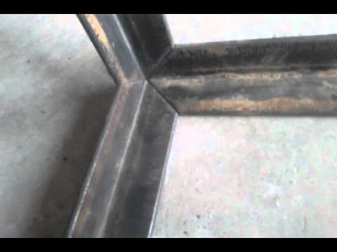 Mitered Corner Cut On Ironworker 2 Quot X2 Quot Angle Youtube