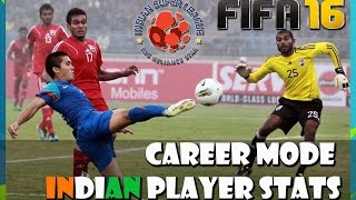 FIFA 16 (PS4) ISL - INDIAN PLAYER Stats in Career Mode