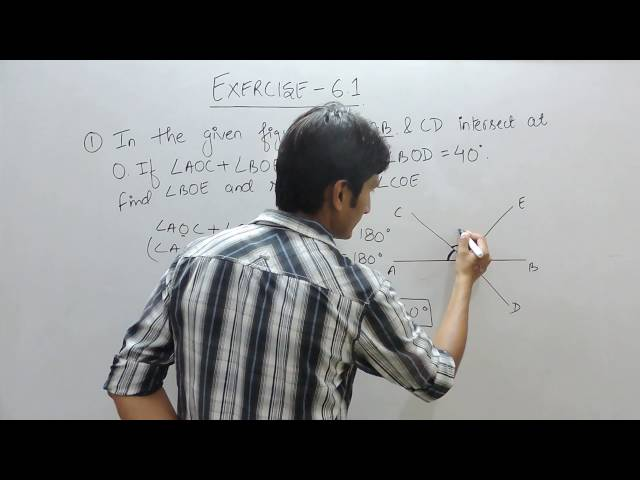 Ex 6.1 Q 1 - Lines and angles class 9th maths - chapter 6 class 9th mathematics ncert solutions