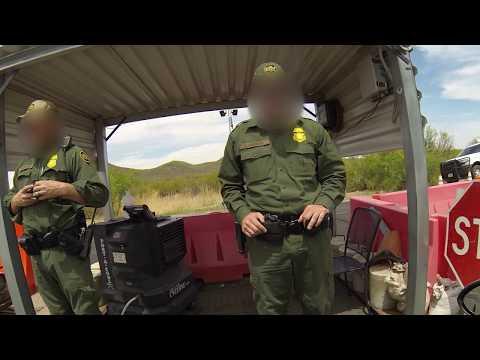 2 Super Troopers Halt Tucson, Arizona Traffic for U.S. Border Patrol Immigration Checkpoint
