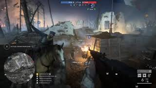 Battlefield 1 - Conquest - Nivelles Night - Kill Streak on B Flag (17-8)