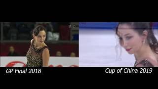 Elizaveta Tuktamysheva Grand Prix Final 2018 vs Cup of China 2019 Елизавета Туктамышева 2018 2019