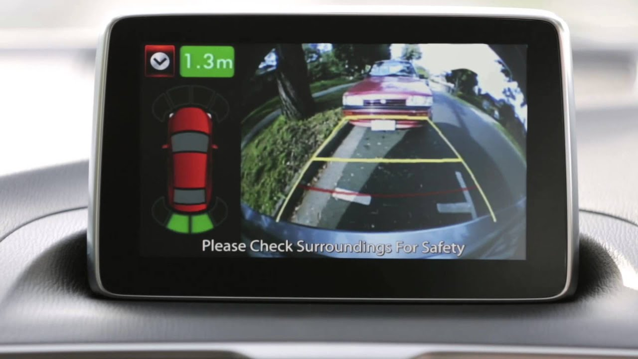 Car Backup Camera >> Mazda3 Genuine Screen integrated Front and Reverse Parking ...