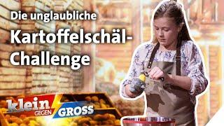 Kartoffel-Schälen auf Zeit: Versalzt Luna TV-Koch Alexander Kumptner die Suppe? | Klein gegen Groß