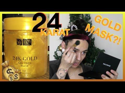 24 KARAT GOLD FACE MASK?! SHOOK